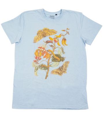 triko modré motýl fairtrade