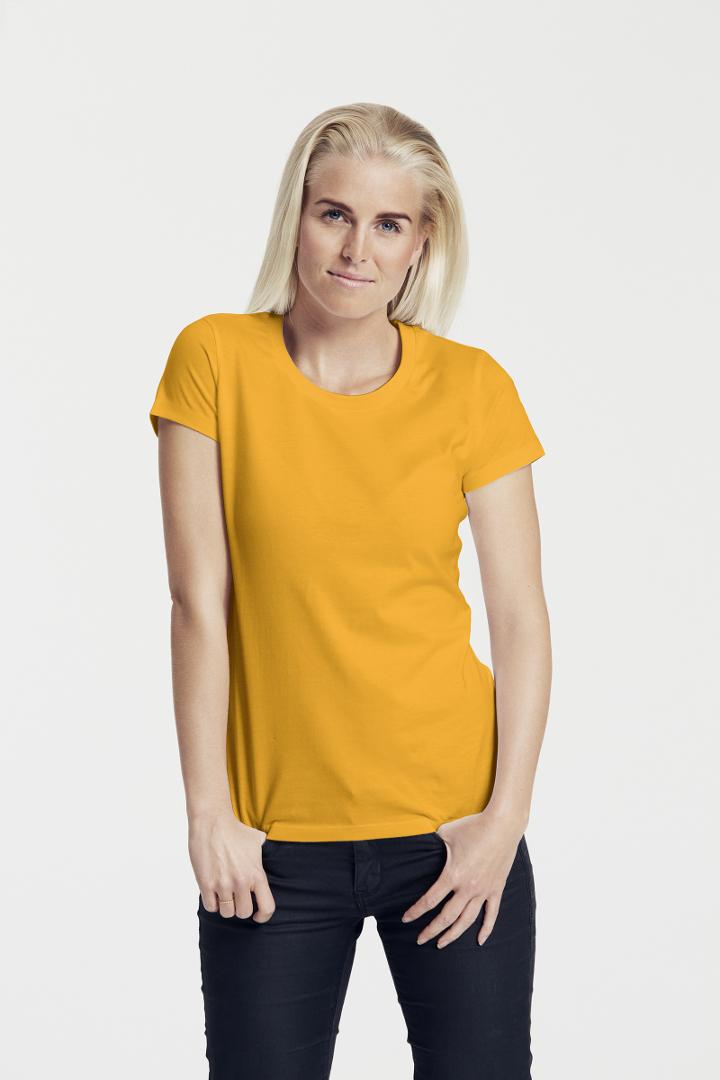 dámské žluté tričko bez potisku bio